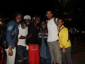 COP17 Youth Delegates Relax