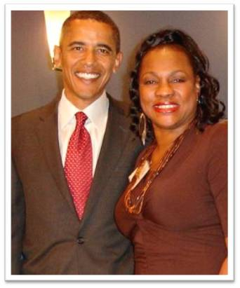 Dr. Beverly Wright with President Obama